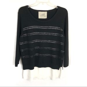 Anthropologie angel of north Dovie lace sweater